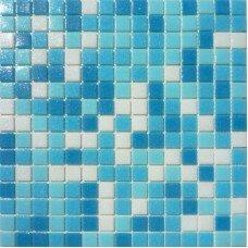 Мозаика  mix 14белосиний( paper) 327х327